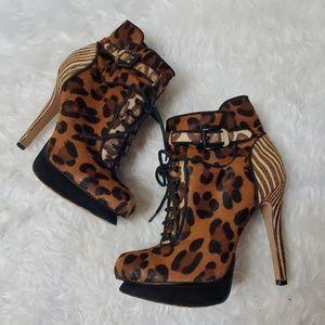 Sam Edelman Shoes - Sam Edelman Brown Cheeta print Uma boots booties